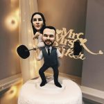 Harmeet and Mitch cake toppers.